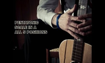 Pentatonic Scale in A – Guitar Lesson (All postions)