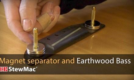 Repair magnet separator and 1970s Earthwood Bass