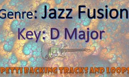 D Major – Jazz Fusion Guitar Backing Track