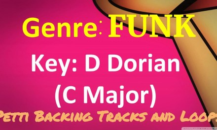D Dorian – Funk Guitar Backing Track