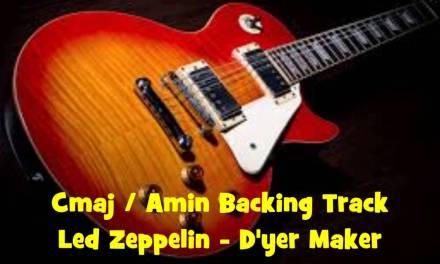 Cmaj/Amin Rock Backing Track – D'yer Maker
