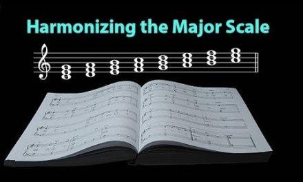 Music Theory – Harmonizing the Major Scale