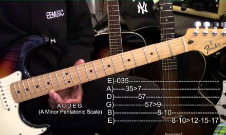 A Minor Pentatonic Scale How To Play Up & Down The Guitar Neck Lesson EBMTL HD