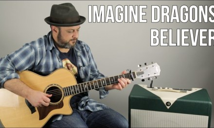 """3 Chord Easy Acoustic Song – Imagine Dragons """"Believer"""" Guitar Lesson"""