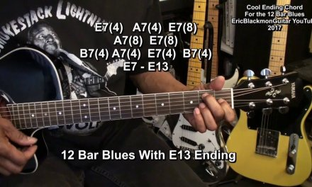 12 BAR BLUES ENDING CHORD Lesson EricBlackmonGuitar HD 2017 Update