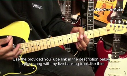 Strumming The 12 Bar Blues In A Major On Guitar Turnaround Lesson A7 D7 E7 EricBlackmonGuitar