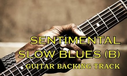 Guitar backing track – Epic slow blues in B!