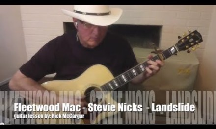 Fleetwood Mac Guitar Lesson – Landslide full song – lick-by-lick solo – finger-picking demo free tab