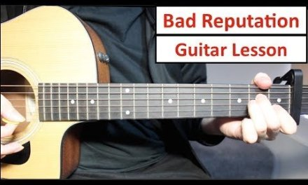 Shawn Mendes – Bad Reputation | Guitar Lesson (Tutorial) How to play Chords
