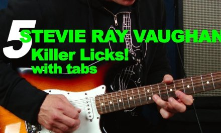 5 killer Stevie Ray Vaughan SRV licks with tabs and scales guitar lesson