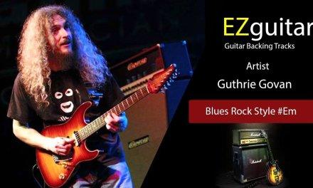 Guthrie Govan – Guitar Backing Tracks – Blues Rock Style #Em