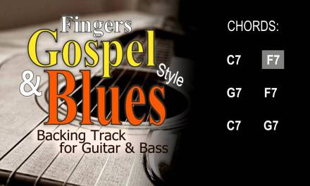 Fingers Gospel Blues Guitar and Bass Backing Track C 150 Bpm Highest Quality