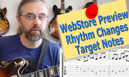 WebStore Preview – Rhythm Changes – Target Notes – Jazz guitar