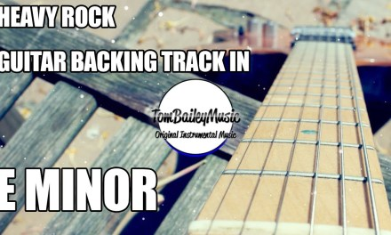 Heavy Rock Guitar Backing Track In E Minor