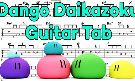 Learn How to Play Dango Daikazoku Fingerstyle Acoustic Guitar Lesson TABS(Clannad.Ed)