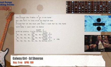 Galway Girl – Ed Sheeran Guitar Backing Track with chords and lyrics