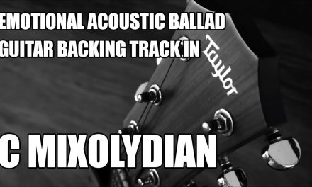 Emotional Acoustic Ballad Guitar Backing Track In C Mixolydian