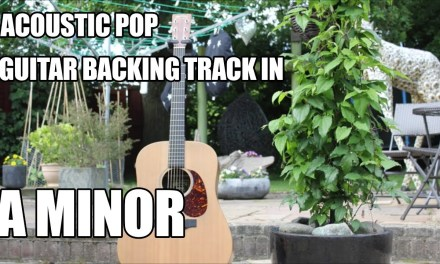 Acoustic Pop Guitar Backing Track In A Minor