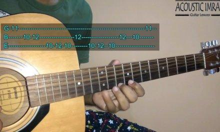 Itni Si Baat Hai Guitar Tabs/Lead Lesson By Acoustic Imran
