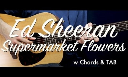 Ed Sheeran – Supermarket Flowers guitar Lesson/Tutorial w Chords & TAB guitar cover/How to play