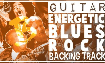Energetic Blues Rock Backing Track in B