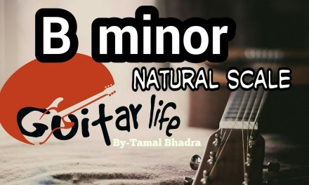 Guitar lesson of B minor natural scale in Bengali