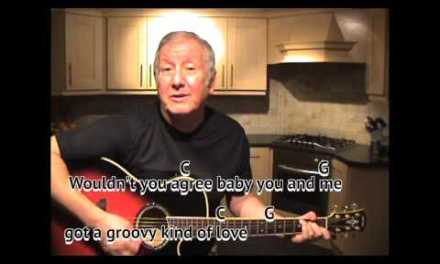 A Groovy Kind of Love – Phil Collins – cover – easy chords guitar lesson on-screen chords and lyrics