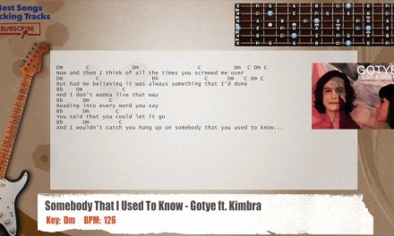 Somebody That I Used To Know – Gotye ft. Kimbra  Guitar Backing Track with chords and lyrics