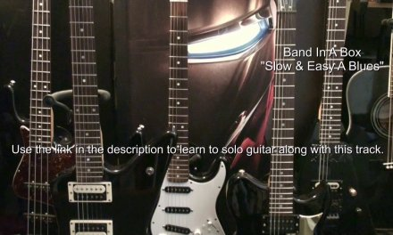 Slow Blues Backing Track In A Major + Guitar Solo Lesson Link EricBlackmonGuitar
