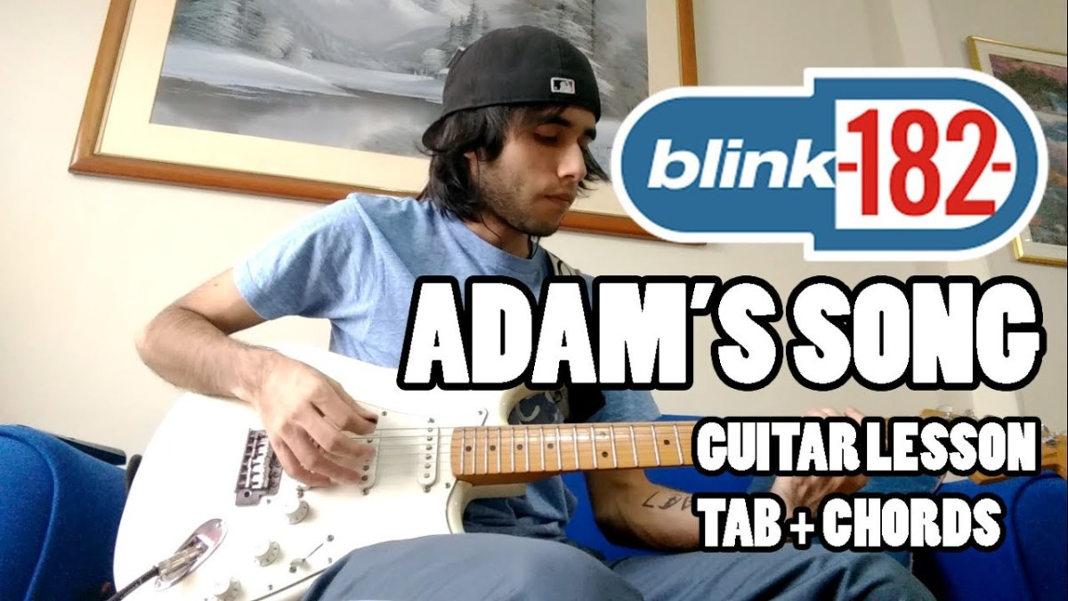 Blink 182 Adams Song Guitar Lesson With Tab And Chords Hq