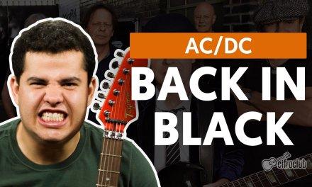Back In Black – AC/DC (aula de guitarra)