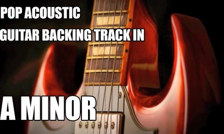 Pop Acoustic Guitar Backing Track In A Minor / C Major