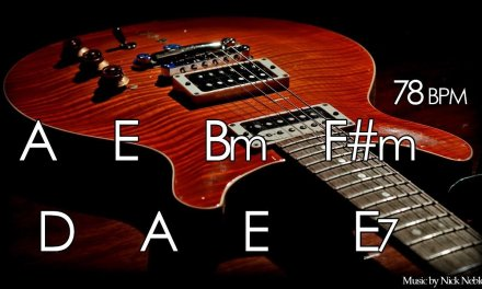 Backing Track Slow Instrumental Guitar Ballad A Major