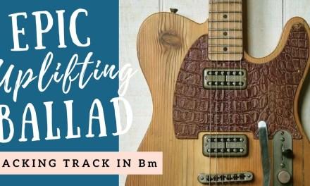 Epic Uplifting Rock Ballad | Guitar Backing Track Jam in C Minor