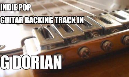 Indie Pop Guitar Backing Track In G Dorian