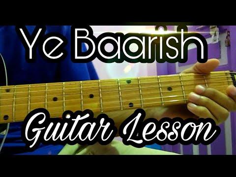 Ye Baarish Darshan Raval Guitar Cover Lesson Chords Tutorial