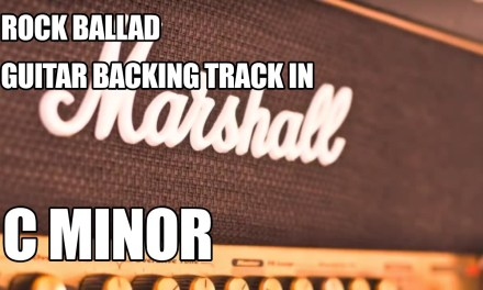 Rock Ballad Guitar Backing Track In C Minor