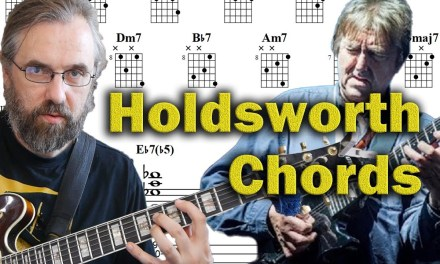 Allan Holdsworth Chords on a Jazz Standard – Advanced Modern Chord Voicings – Guitar Lesson