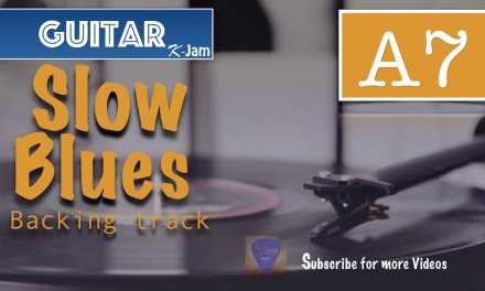 A7 Slow Blues Guitar Backing Track