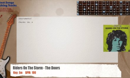 Riders On The Storm – The Doors Guitar Backing Track with chords and lyrics