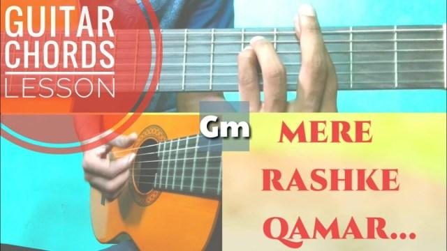 Mere Rashke Qamar    Rahul Vaidya    Guitar Chords Lesson   The Glog