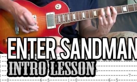Metallica – Enter Sandman Intro Guitar Lesson (With Tab)