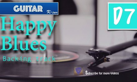 Happy Blues Guitar Backing Track in D7
