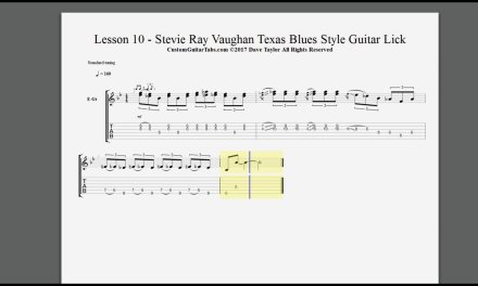 LESSON 10 – Stevie Ray Vaughan Texas Blues Style Guitar Lick