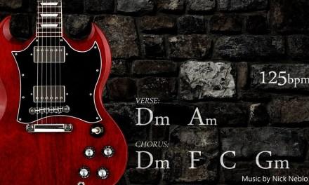 Rock Guitar Backing Track Jam D minor