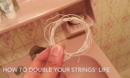 How to clean your used classical guitar bass strings – Tariq Harb