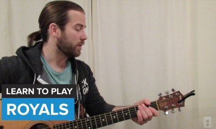 """How to play """"Royals"""" by Lorde (Guitar Chords & Lesson)"""