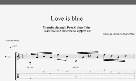 (Paul Mauriat) Love is blue – Guitar Tab | Best Tab | HD 1080p
