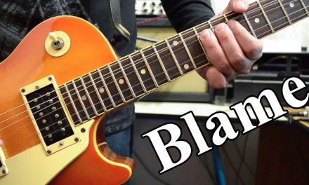 Calvin Harris – Blame ft. John Newman | electric guitar cover (instrumental & backing track)