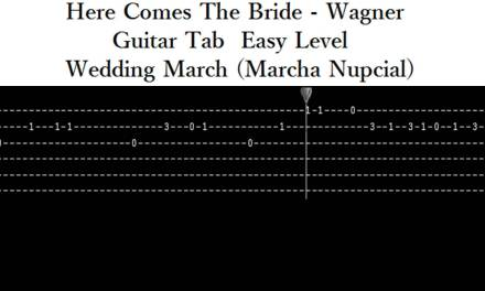 Here comes the bride (Wagner) guitar tab -Easy- Wedding March